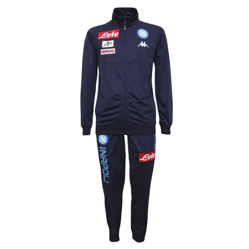 SSC Napoli suit representation Anderin 2 Blue 2017/18 Kappa