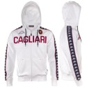 Cagliari calcio felpa con cappuccio bianca kappa
