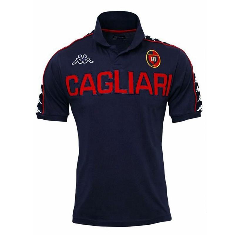 Cagliari polo rappresentenza navy kappa