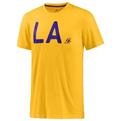 Los Angeles Lakers t-shirt Lavé jaune Adidas
