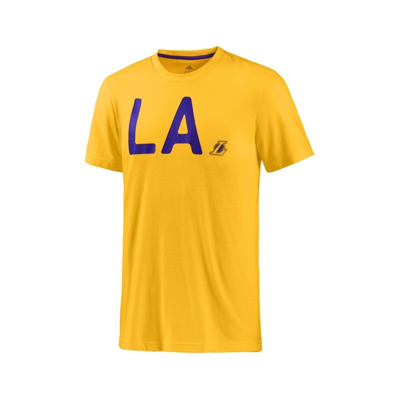 Los Angeles Lakers camiseta Lavada amarillo Adidas