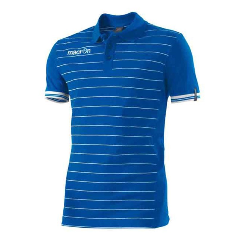 Jungle Polo manica corta azzurra Macron