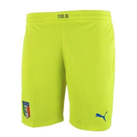 Italy Goalkeeper shorts fluo yellow Puma
