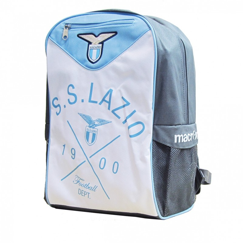 Lazio backpack anthracite white blue Macron
