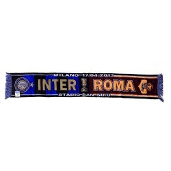 Inter vs Roma scarf to celebrate the semi-finals of the Coppa Italia
