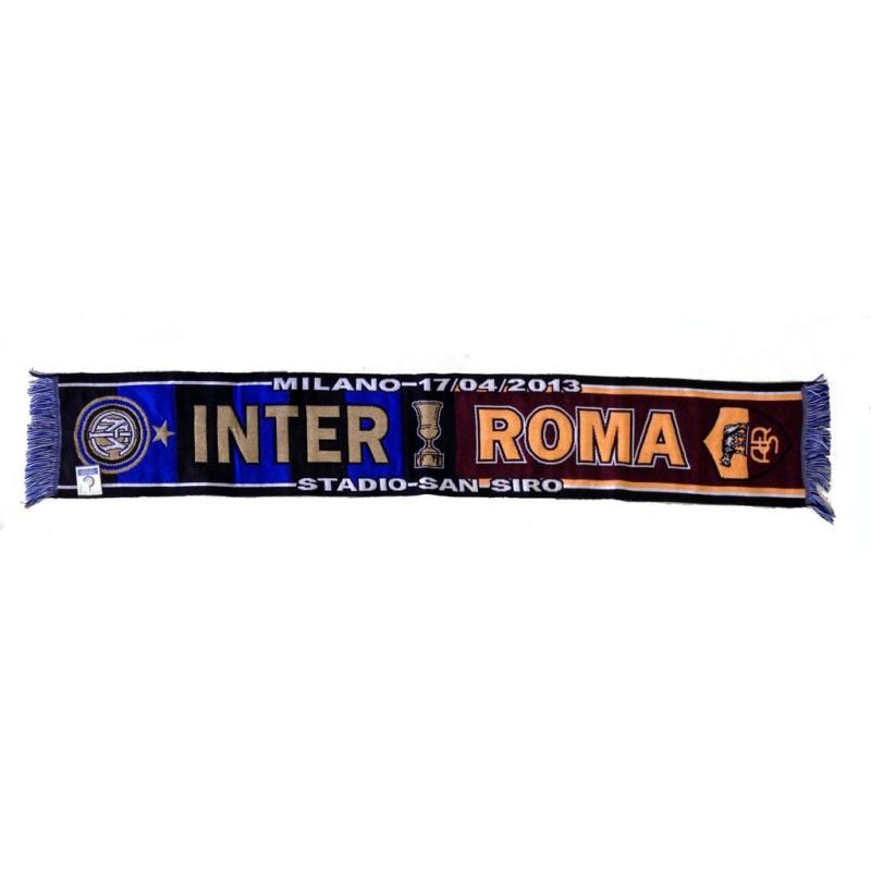 Inter vs Roma scarf to celebrate the semi-finals of the Coppa Italia