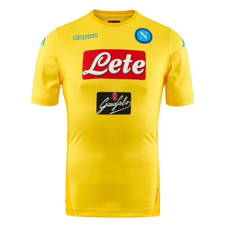 SSC Napoli maillot away jaune Kombat Supplémentaire 2017/18 Kappa
