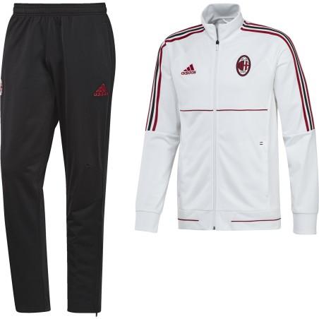 Milan tuta panchina Bianca 2017/18 Adidas