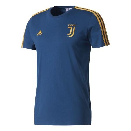 Juventus t-shirt bleu 3 bandes Adidas 2017/18