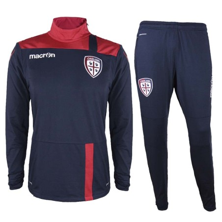 Cagliari tracksuit workout blue red 2016/17 Macron