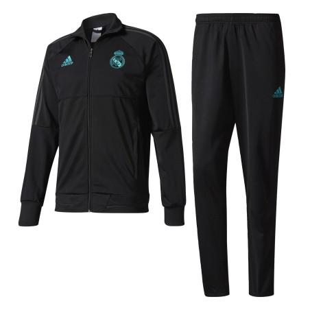 Le Real Madrid survêtement banc noir 2017/18 Adidas