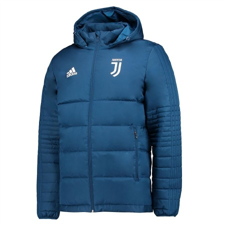 La Juventus veste matelassée bleu 2017/18 Adidas