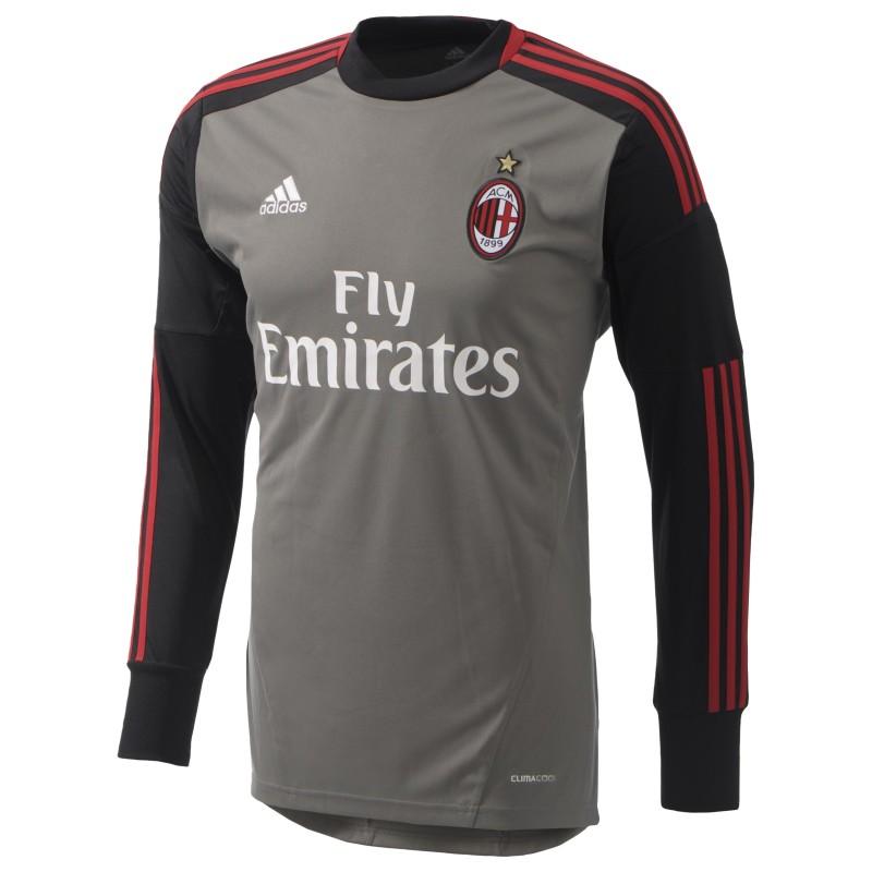 Milan goalkeeper shirt gray Adidas