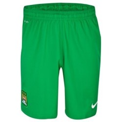 Manchester City short de gardien de but vert 2013/14 Nike