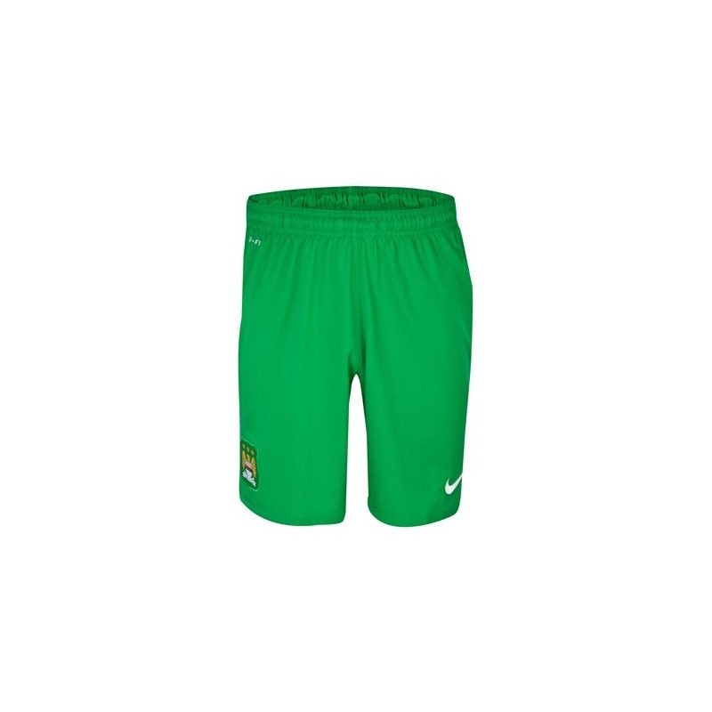 Manchester City goalkeeper shorts green 2013/14 Nike