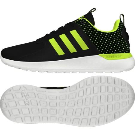 Zapatillas Adidas CF Racer Lite negro amarillo fluo