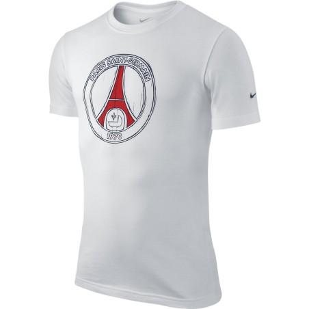 Paris Saint-Germain PSG t-shirt Core bianca Nike