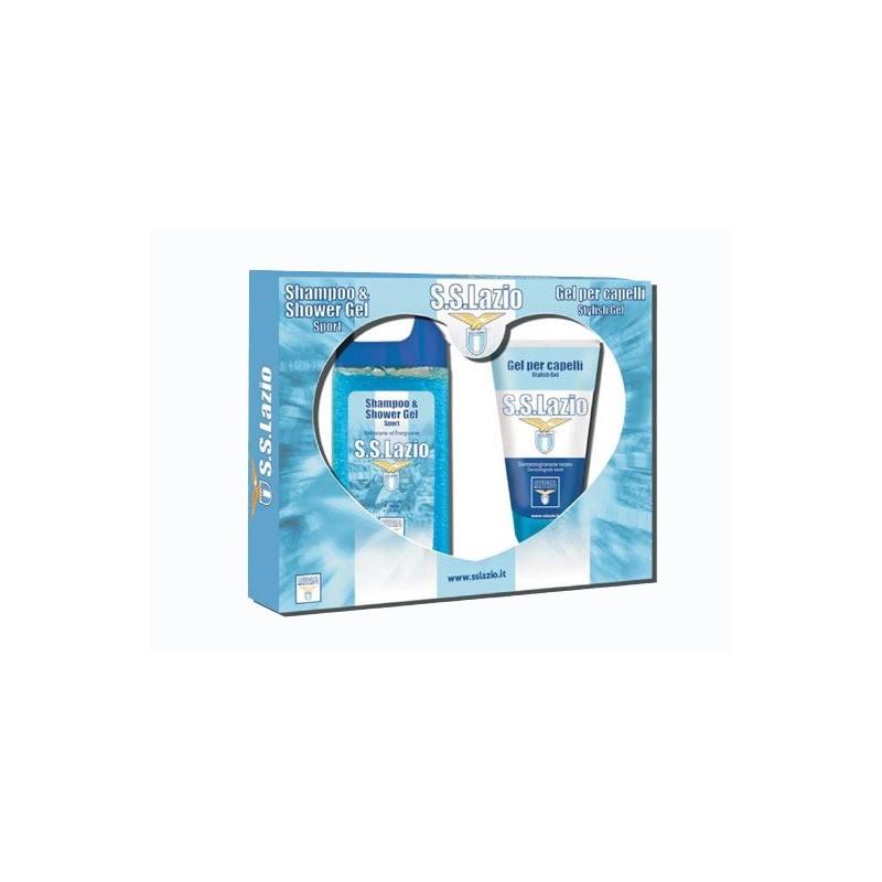 Lazio gift set shampoo + action gel prodotto ufficiale