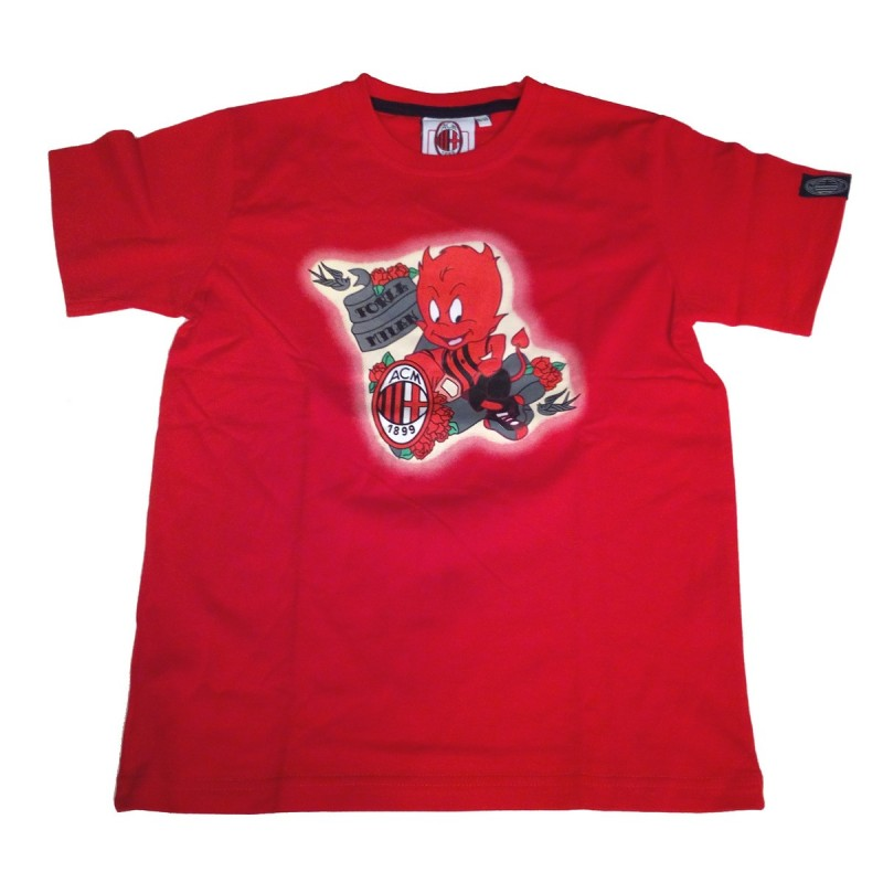Ac Milan ACM t-shirt Devil child red official