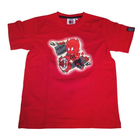 Milan ACM t-shirt Diavolo bambino rossa ufficiale
