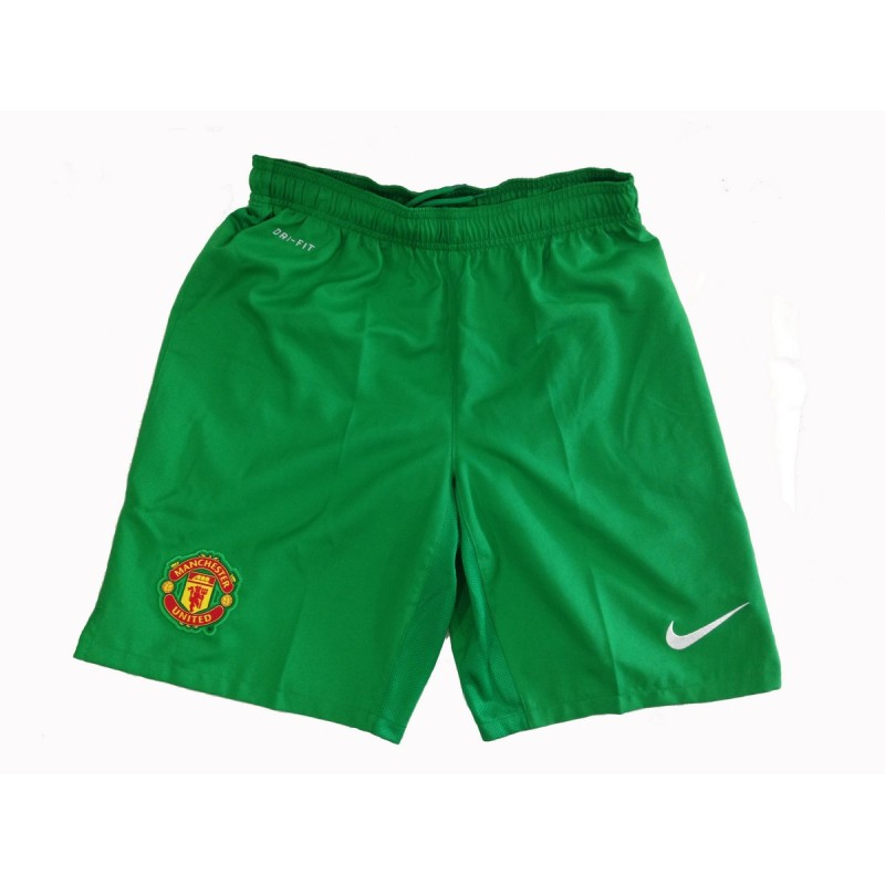 Manchester United pantaloncini portiere verde 2013/14 Nike