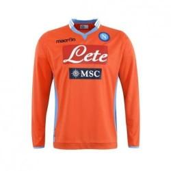 Napoli portero camiseta m/l color naranja 2013/14 Macron