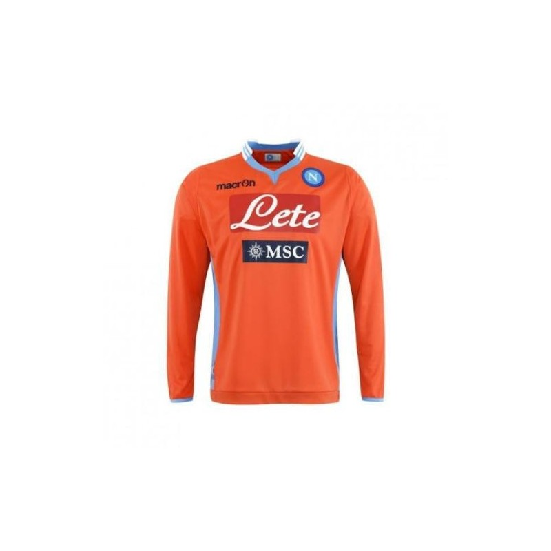 Napoli maillot de gardien de but m/l orange 2013/14 Macron