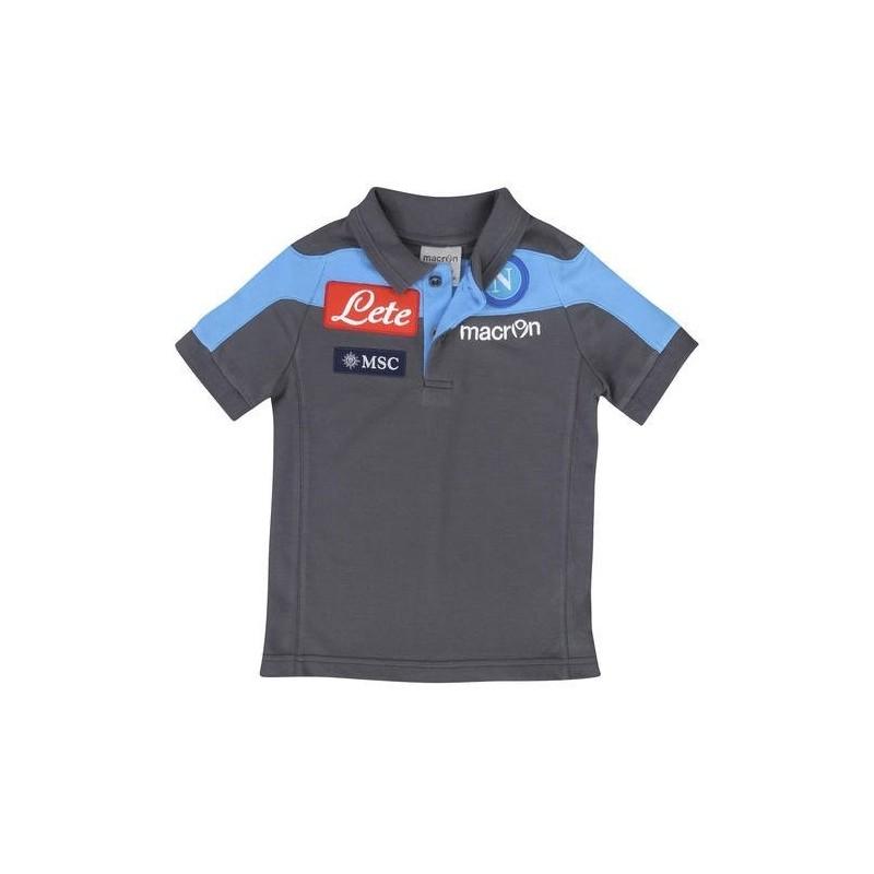 Napoli polo team ufficiale grigio Macron