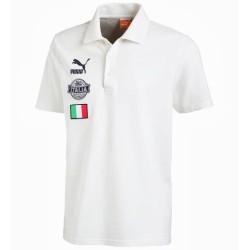 Polo de fútbol de Italia archivo Puma blanco