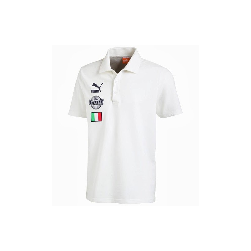 Polo de football Italie archive blanc Puma