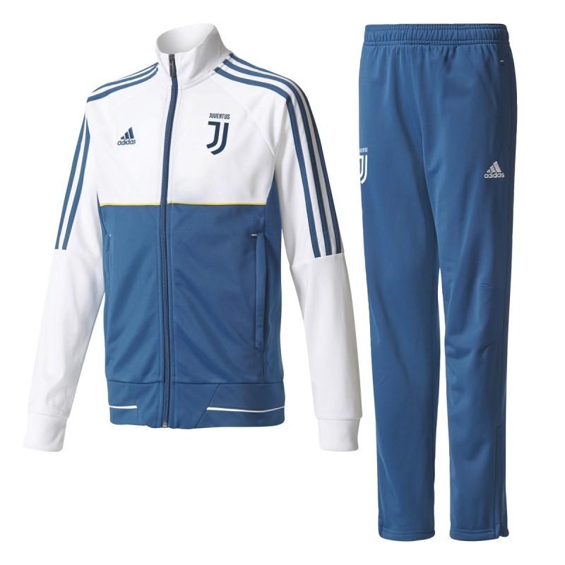 81993c9ff9f3d La Juventus de chándal de banco niño blanco 2017 2018 Adidas