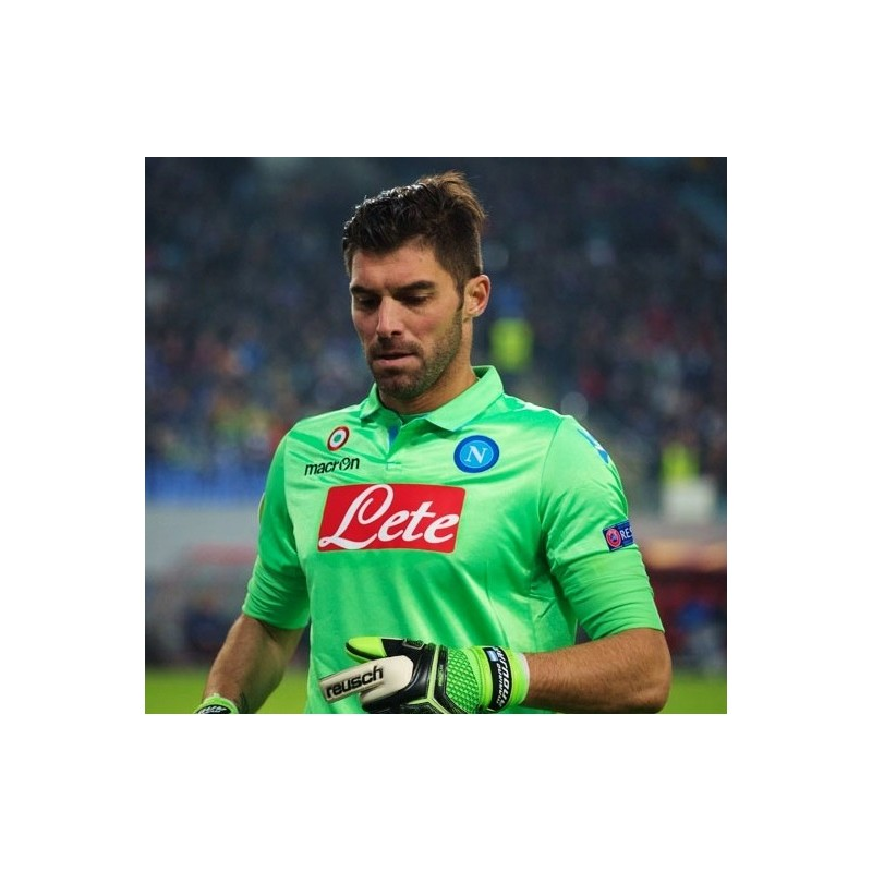 ... SSC Napoli camiseta de portero-verde 2014 15 Macron 4550b6b8f88a4