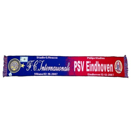 Bufanda de milán vs PSV Eindhoven de Liga de Campeones 2007/2008