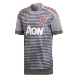 Camiseta del Manchester United antes de la carrera gris 2017/18 Adidas