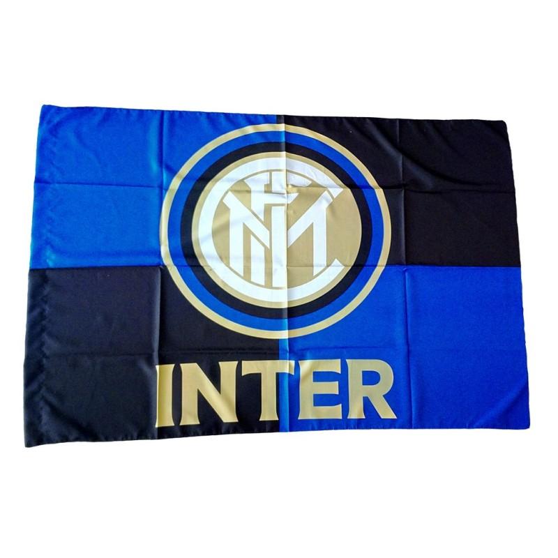 Le FC Inter milan logo drapeau Noir Bleu officiel