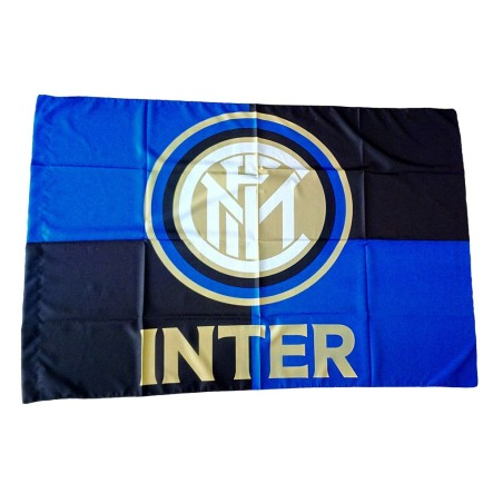 FC Inter milan logo flag Black Blue official