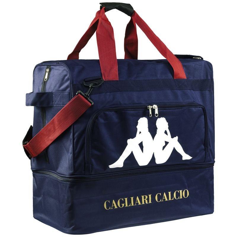 Cagliari sac de sport football bleu Kappa
