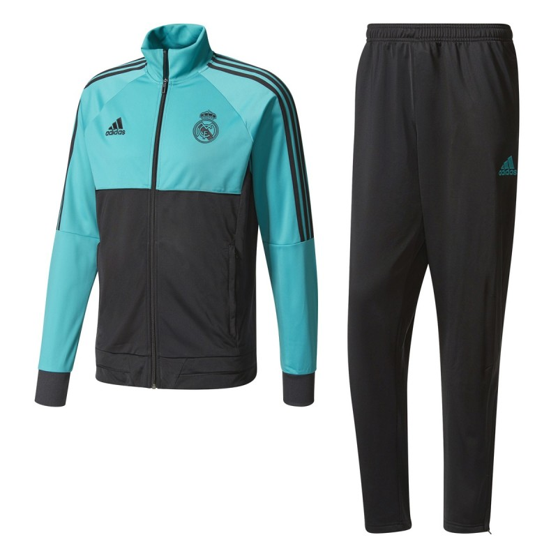 Real Madrid tracksuit bench turquoise 2017/18 Adidas