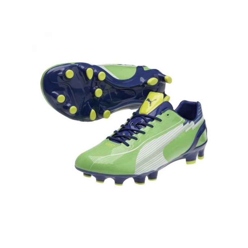 Puma football boots evoSPEED 1 FG green/blue