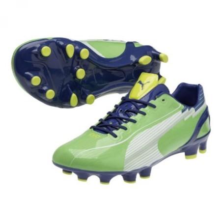 Puma football boots evoSPEED 1 FG green/blue