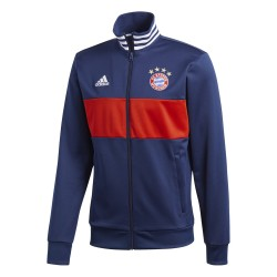 Bayern Munich sweatshirt Track Top 3 blue Stripes 2017/18 Adidas