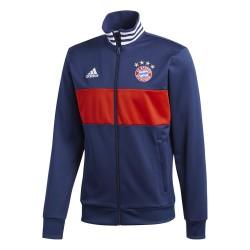 El Bayern de Múnich sudadera parte Superior de la Pista 3 Rayas azules 2017/18 Adidas