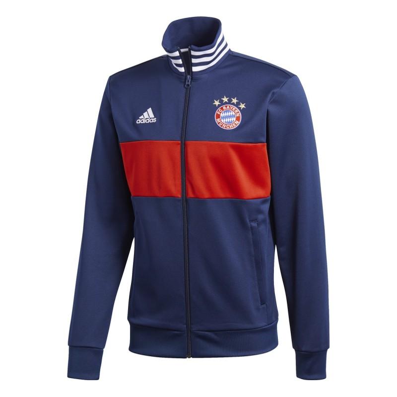 Bayern Munich sweatshirt Track Top 3 blue Stripes 2017/18 Adidas