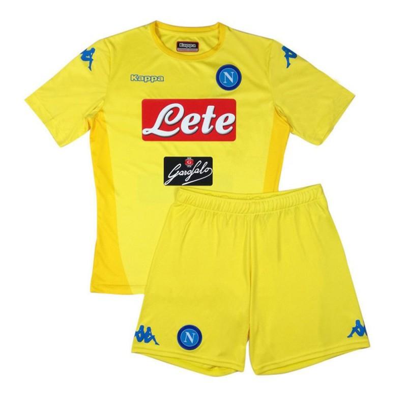 Neapel-kit trikot shorts away kinder 2017/18 Kappa