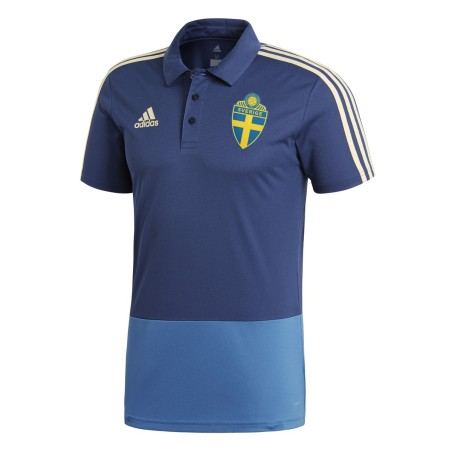 Suède polo de football SVFF de la Coupe du Monde 2018 Adidas