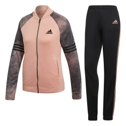 Tuta donna Pes Cosy rosa nero Adidas