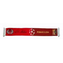 Bufanda de Milán vs Barcelona oficial de la Liga de Campeones 2012
