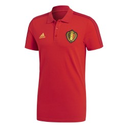 Belgio polo 3S rossa 2018/19 Adidas