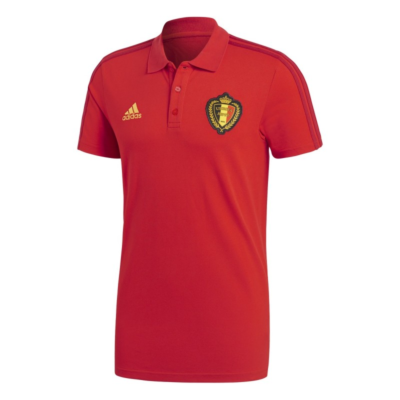 Belgien polo 3S rote 2018/19 Adidas