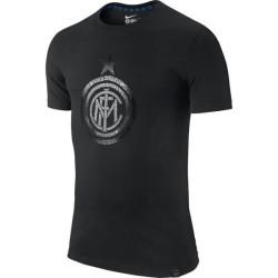 Inter Milan t-shirt maglietta Authentic logo nera Nike